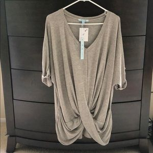 Women's gray long sweater